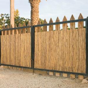 clôtures en bambou entier naturel