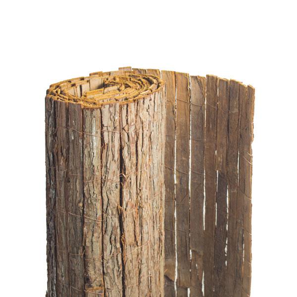 clôture en écorce de pin naturel