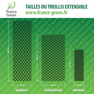 dimensions de treillis feuillages artificiels