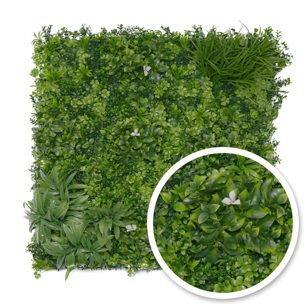 mur végétal liseron - feuillage artificiel - france green
