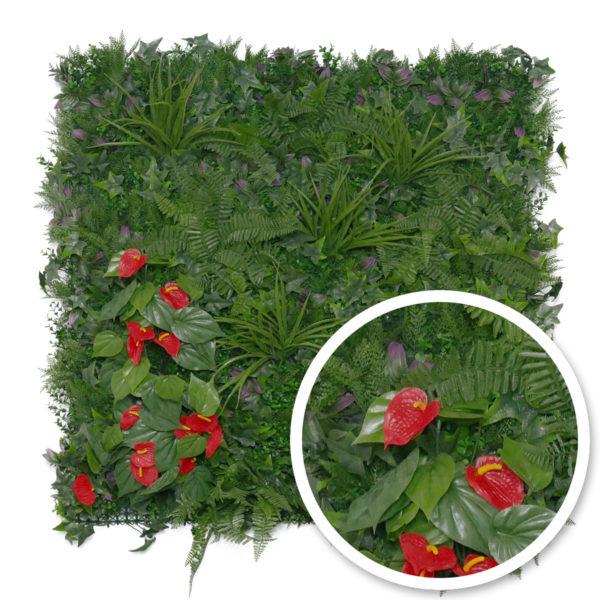 mur végétal tropical