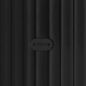 canisse PVC noir double face