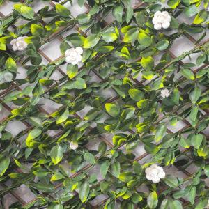 treillis feuillage artificiel jasmin fleuri